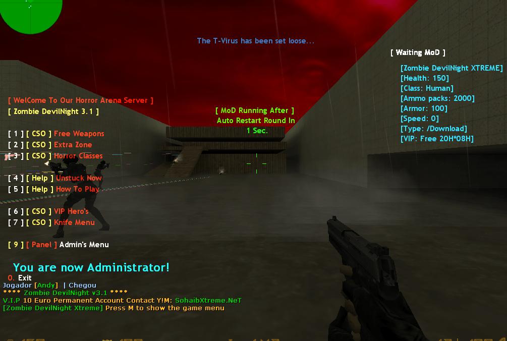 Counter-Strike 1.6 Zombie DarkNightmare XTREME Addon Download [ 2k18 ]